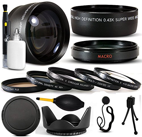10 Piece Ultimate Lens Package For the Finepix S700 S5600 S5700 S5800 Digital Camera Includes .43x High Definition II Wide Angle Panoramic Macro Fisheye Lens + 2.2x Extreme High Definition AF Telephoto Lens + Professional 5 Piece Filter Kit (UV, CPL, FL, ND4 and 10x Macro Lens) + Tube Adapter+ Flower Lens Hood + Deluxe Lens Cleaning Kit + LCD Screen Protectors + Mini Tripod + 47stphoto Microfiber Cloth Photo Print !