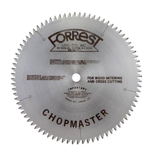 Forrest CM12806115 Chopmaster 12-Inch 80-tooth ATB Miter Saw Blade with 1-Inch Arbor