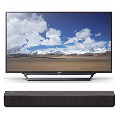 Sony KDL32W600D 32-Inch HD Smart TV S200F 2.1ch Soundbar with Built-in subwoofer (HT-S200F)