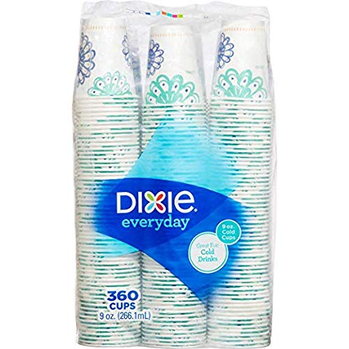 Dixie Cold 9oz Cup, 360 Count (Styles May Vary)