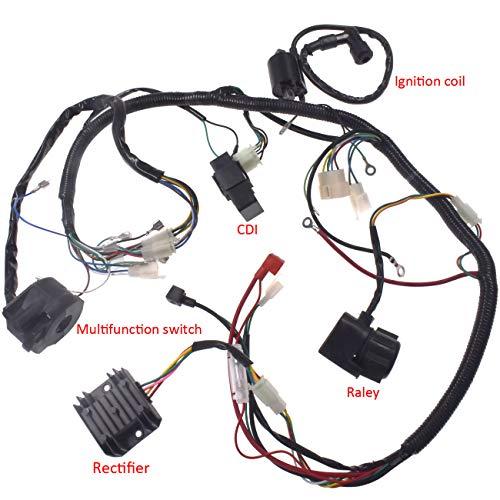 Supermotorparts Electrics Wiring Harness Wire Loom ATV QUAD 125 150 200cc 250cc Stator CDI Coil