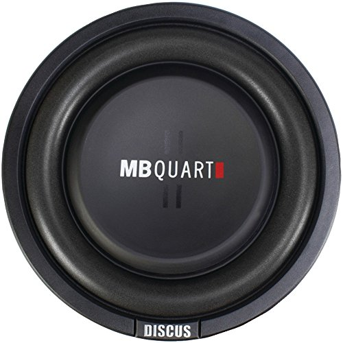 MB Quart DS1-204 Discus Shallow Mount Subwoofer (Black) – 8 Inch Subwoofer, 400 Watt, Car Audio, 2 Inch Voice Coils, UV Rubber Surround, Best in Sealed Enclosures