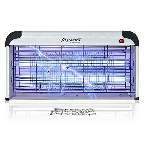 ASPECTEK Electronic Bug Zapper 40W, Insect Killer - Mosquito, Fly, Moth Trap, Upgraded 20W Bulbs- for Residential & Commercial Indoor Use; More Power - Larger Size 25 Inch