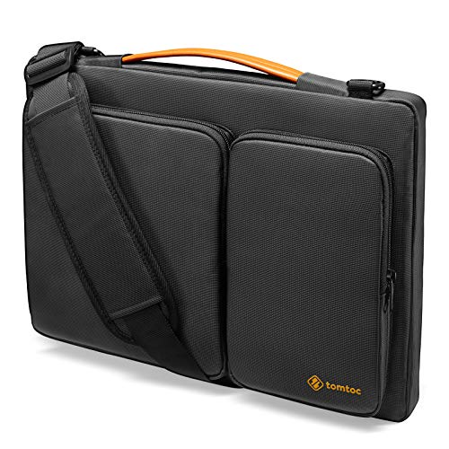 tomtoc 360 Protective Laptop Shoulder Bag for 15 16-inch MacBook Pro A2141 A1398, Water-resistant Case for Dell XPS 15, New Surface Book 3/2, The New Razer Blade 15, ThinkPad X1 Extreme Gen 2