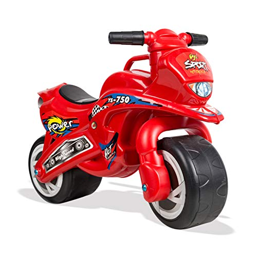 KARMAS PRODUCT Ride-On Push Motorcycle,Plastic Balance Toddler Bike 2 Wheels Walking Activity Trainer for Kids 2-5 Years Old (red)