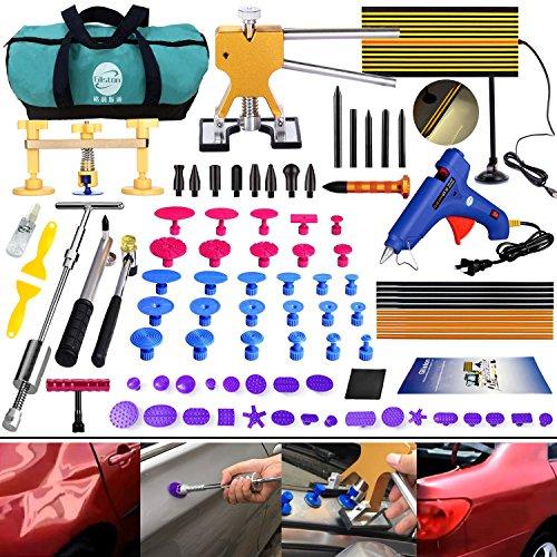 DIY Paintless Dent Repair Kit - Gliston 89pcs Dent Puller Tools Slide Hammer for Car Hail Damage Dent & Ding Remover