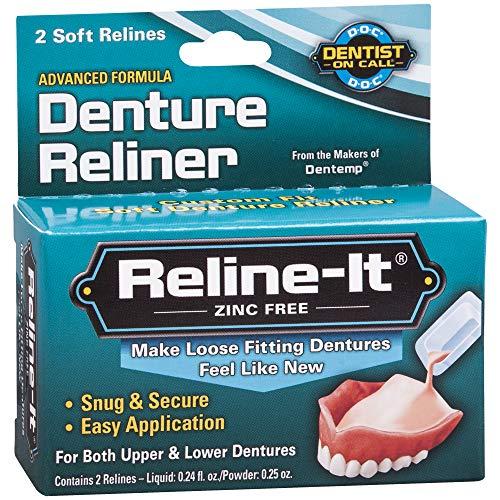 Reline-It Advanced Denture Reliner Kit for Both Upper & Lower Dentures, Easy Application, 2 Soft Relines