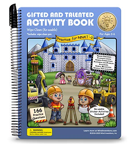 Gifted and Talented Test Prep: Activity Book for Children Ages 3-6 in preschool through kindergarten; G&T NNAT-2; Early Learning Logic and Games