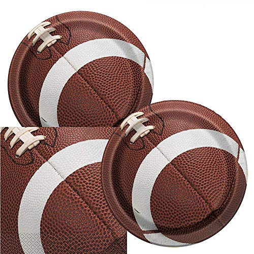 Football Game Day Birthday Party Plates & Napkins Serves 16
