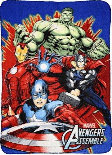 Marvel Avengers Kids Fleece Blankets 100 x 140 cm (Red)