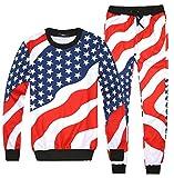 Dolpind Emoji American Flag Casual Sweater Pants Sweatshirt Sweatsuits
