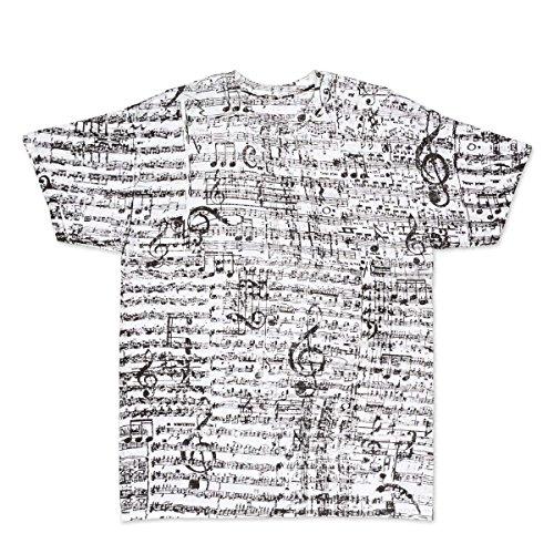 ComputerGear Music Notes T Shirt Musical Score Adult Cotton Men Women Tee, M White