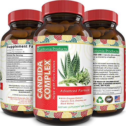 Candida Cleanse Support for Men and Women - Pure Immune System Booster - Acidophilus - Oregano - Caprylic Acid - Anise - Protease - Cellulase - Potent Candida Complex - Natural Enzymes