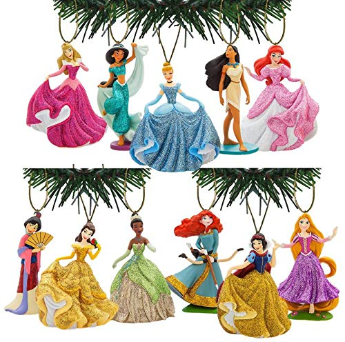 Characteristix Disney's Princess Deluxe Glitter Ornament Set