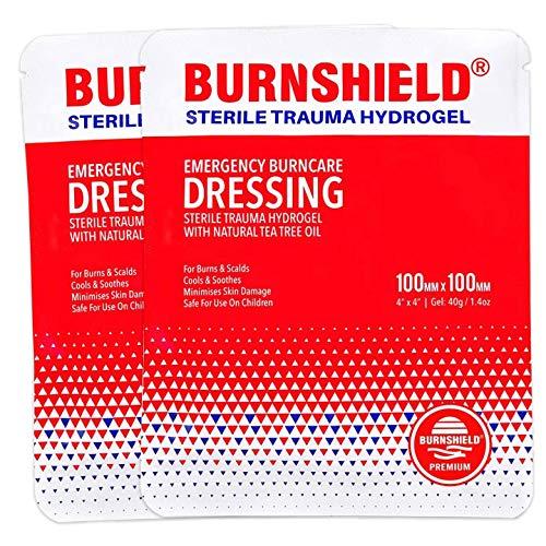 EverOne Burnshield 4' X 4' (10cm X 10cm) Burn Dressing - 2 Pack