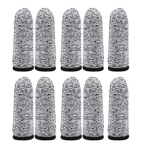 20 Pcs Cut Resistant Finger Cots, Finger Sleeve Protectors Reusable Finger Covers, Finger Protection Cots for Kitchen, Sculpture