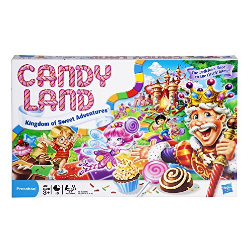 Hasbro Gaming Candy Land Kingdom Of Sweet Adventures Board Game For Kids Ages 3 & Up (Amazon Exclusive),Red,Original version