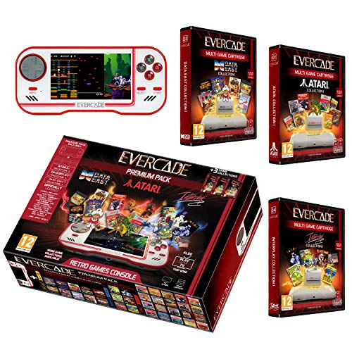 Evercade Premium Pack Includes 3 Cartridges Collections: Atari Volume 1, Interplay Volume 1 and Dataeast Volume 1 - Electronic Games