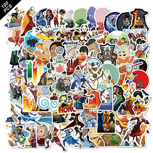 100pcs Avata_r The Last Airbender Stickers Cool Skateboard Stickers for Water Bottle Skateboard Guitar Motorcycle Luggage Waterproof Vinyl Aesthetic Stickers