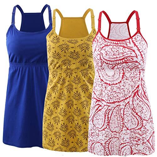 KUCI Maternity Nursing Tank Top, Women Maternity Cami Nursing Sleep Bra Breastfeeding Tops for Pregnancy