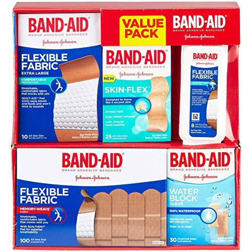 Band-Aid Brand Active Lifestyles Variety Pack Adhesive Bandages, (. 173Count.Variety Pack)