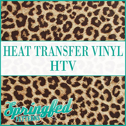 LARGE LEOPARD SPOTS PATTERN #1 HTV Heat Transfer Vinyl 12'x36' Leopard Print for Shirts