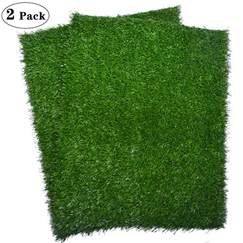 "Artificial Dog Grass Pee Pad 20""x 25"", Indoor Potty Training Replacement Turf for Puppy, Easy to Clean with Strong Permeability, 2-Pack (2-Pack)"