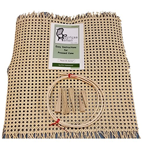 Pressed Cane Webbing Kit, Has an 18'x18' Piece of 1/2' Fine Open Cane Mesh, 6' of #8 Spline, 5 Wood Wedges & Full Color Instruction Booklet by Ed Hammond (Breuer)