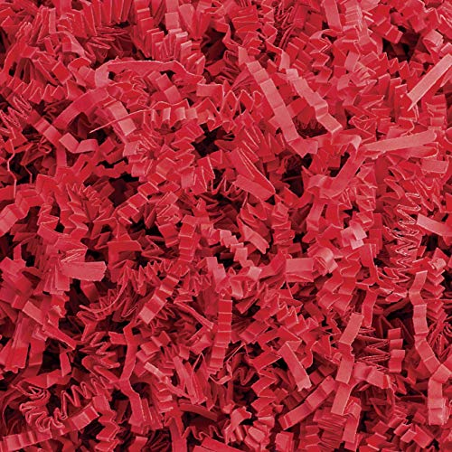 Crinkle Cut Paper Shred Filler (1 LB) for Gift Wrapping & Basket Filling - Red   MagicWater Supply