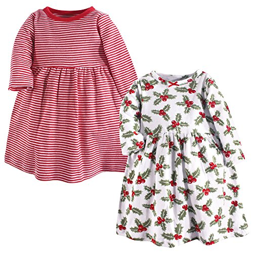 Hudson Baby Baby Girls' Cotton Dresses, Holly, 0-3 Months