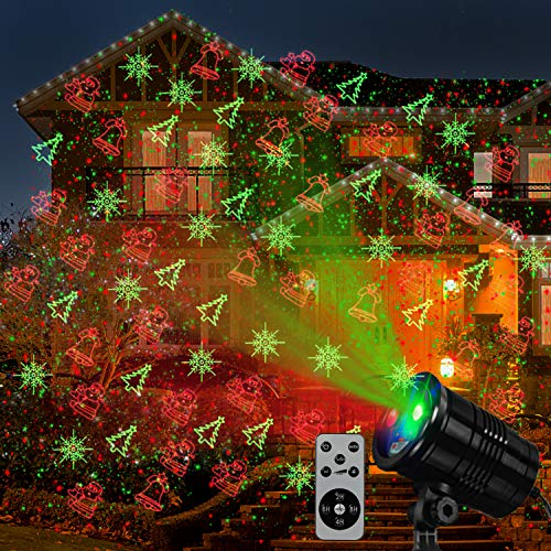 Christmas Laser Projector Lights, Outside Holiday Party Lights Projection,12 Patterns Landscape Decorative Outdoor Lighting Projectors for Indoor Xmas Porch Garden Patio