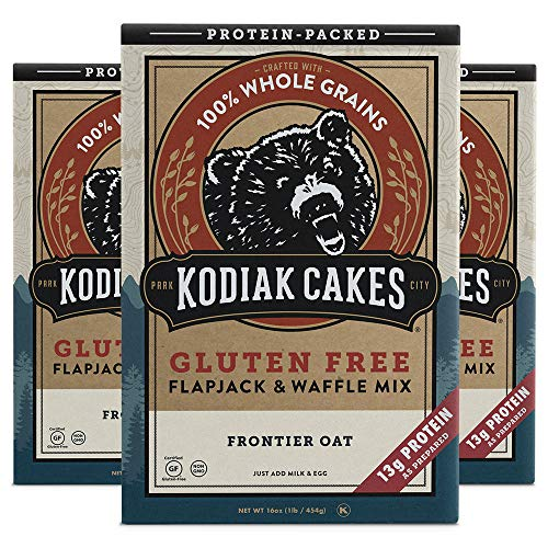 Kodiak Cakes Frontier Oat Gluten-Free Flapjack & Waffle Mix, 16 Oz (Pack Of 3)