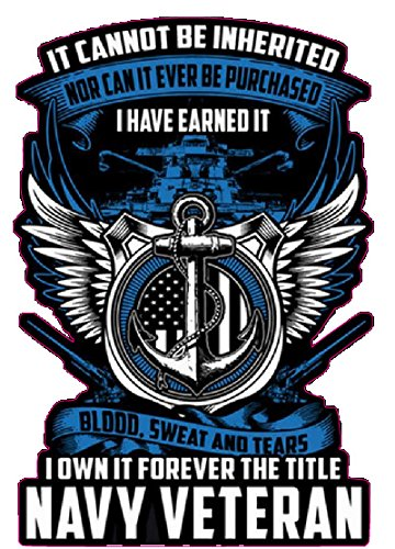 United States Navy I Have Earned it Decal is 5' in Size. from The United States.