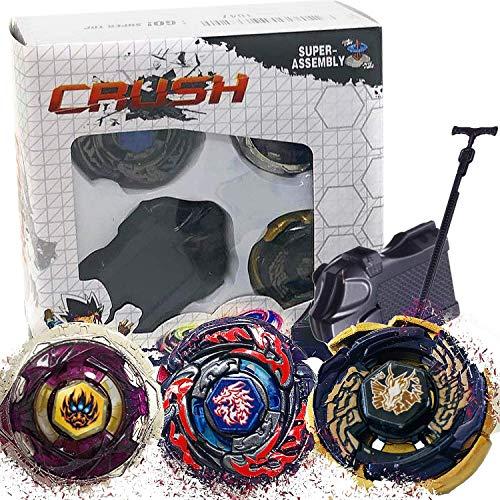 Crush Blades Metal Fusion Starter Set   3 Tops and Launcher (L-Drago Destructor, Phantom Orion & Black Sun Galaxy Pegasus)