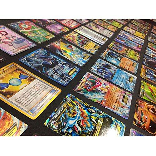 Pokemon TCG : 100 Card LOT Rare, COM/UNC, Holo & Guaranteed EX, MEGA OR Full Art