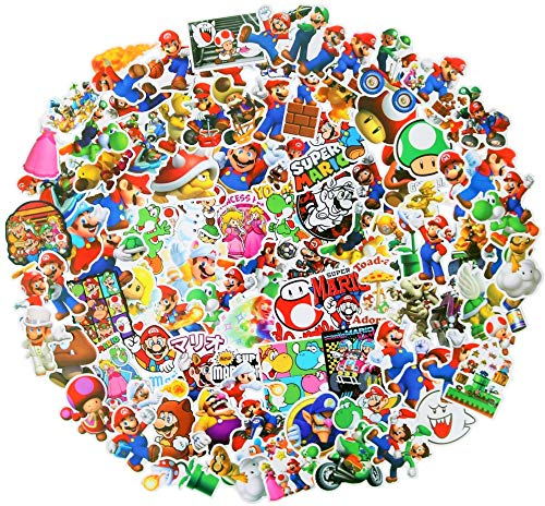 100pcs Super Mario Merchandise Stickers, Vinyl Sticker for Laptop Water Bottle Guitar Bike Car Motorcycle Bumper Luggage Skateboard Graffiti, Cute Decals, Best Gift for Kids,Children,Teen