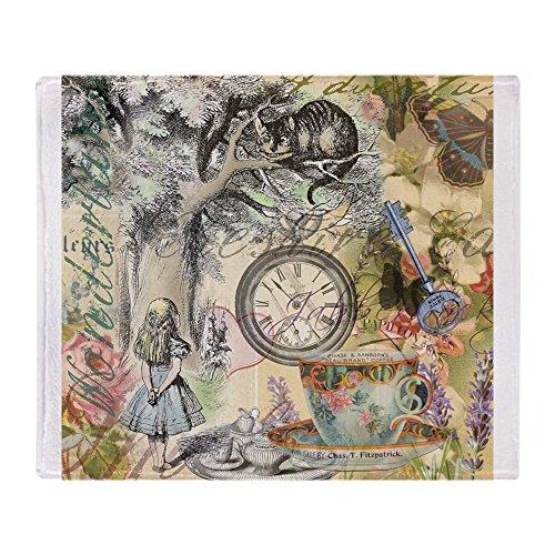 CafePress Cheshire Cat Alice in Wonderland Throw Blanket Soft Fleece Throw Blanket, 50'x60' Stadium Blanket