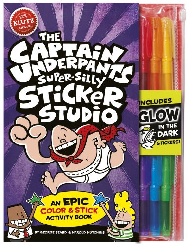 Klutz 561522 Captain Underpants Super Silly Sticker Studio