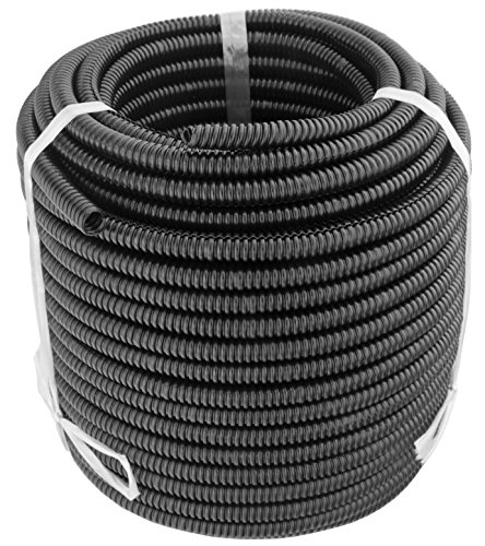 GS Power 1/4' | 50ft Split Loom Tube Polyethylene PE High Temperature Automotive, Marine, Industrial Electrical Wire & Cable Conduit (Available in: 1/4, 3/8, 1/2 & 3/4 inch)