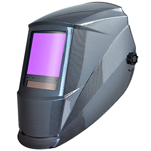 Antra AH7-860-001X Auto Darkening Welding Helmet Huge Viewing Size 3.86X3.5' Wide Shade Range 4/5-9/9-13 Great for TIG MIG/MAG MMA Plasma, Grinding, Solar-Lithium Dual Power, 6+1 Extra Lens Covers …