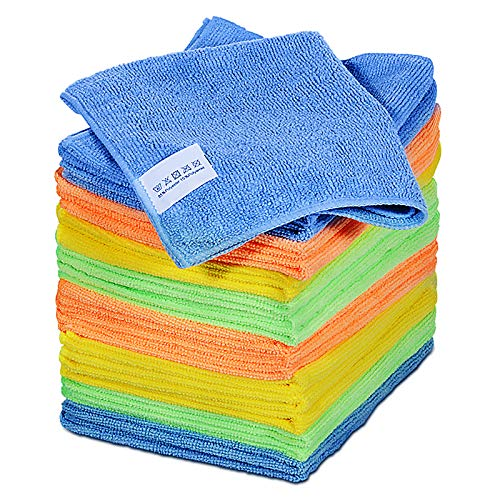 """Microfiber Cleaning Cloths 16"""" X 12.2"""" 20 Pcs Reusable Washable Kitchen Cleaning Rags Highly Absorbent Soft Cleaning Towels for Car House Kitchen Dish Wipes"""