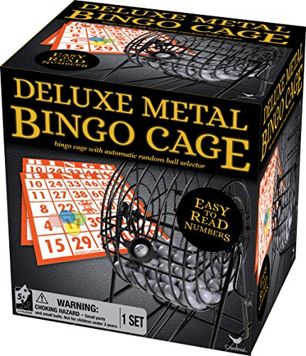 Deluxe Metal Bingo Cage Set for Adults, Families and Kids Ages 6 and up, by Spin Master