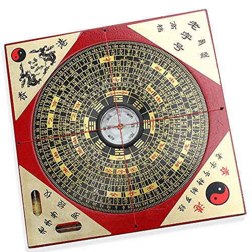 FengShuiGe Chinese Feng Shui Luo Pan Tool Ancient Compass Good Luck 7.3'
