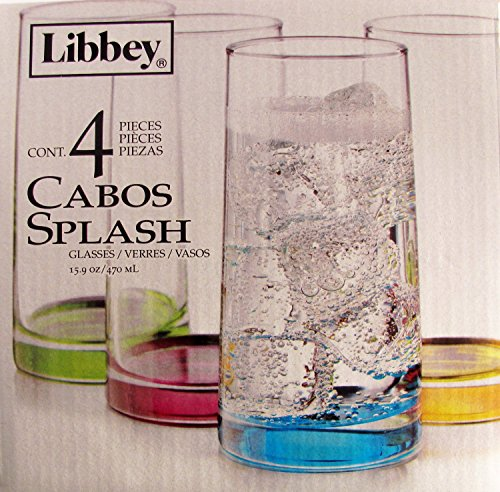 Libbey Cabos Color Glasses Set of 4