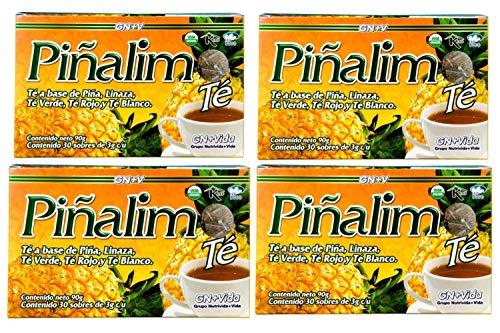 4 Boxes Te Pinalim Tea GN+Vida Weight Loss Tea Diet 120 Day Supply