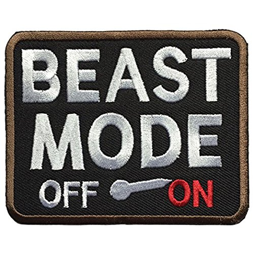 Antrix Beast Mode On Military Morale Patch Tactical Emblem Hook and Loop Patches-3.5x2.75'