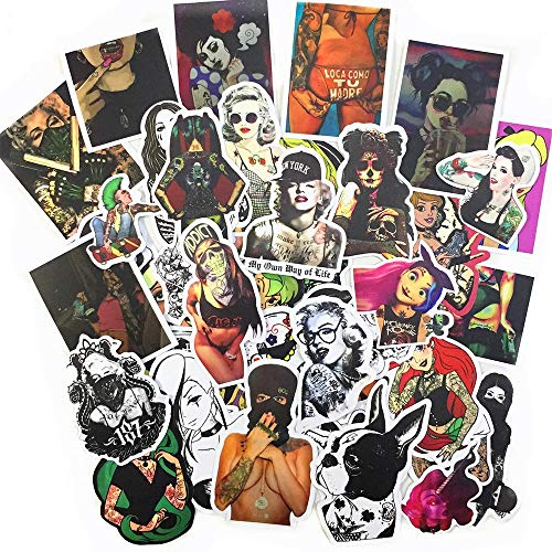 Beyong Skateboard Stickers for Adults Pack, Punk Hippie Sticker for Laptop Luggage Water Bottles Computer (Punk Sticker 100 Pcs)