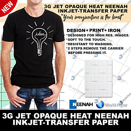 Neenah 3G Jet Opaque Heat Transfer Paper 8.5' x 11' (Pack of 10 sheets)