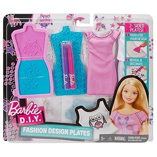 Barbie D.I.Y. Fashion Design Plates #1