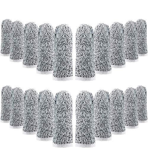 40 Pieces Cut Resistant Finger Cots Finger Sleeves Cut Protection Sleeves Thumb Finger Protectors Guards Reusable for Kitchen Work Sculpture